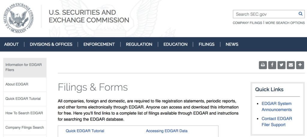 SEC_gov_Filings_Forms